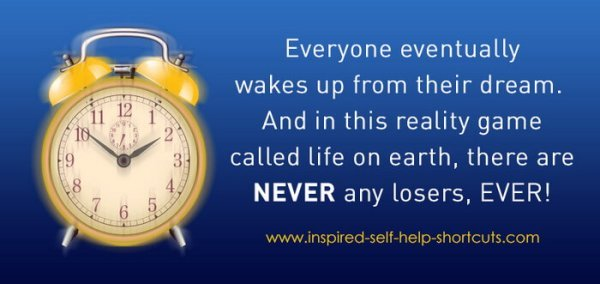 This self help info image reminds us that life on earth is akin to a dream!
