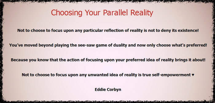 This image test suggests looking into and fully comprehending the idea of infinite parallel realities.