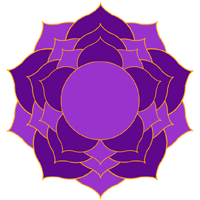 The crown chakra subtle energy system.