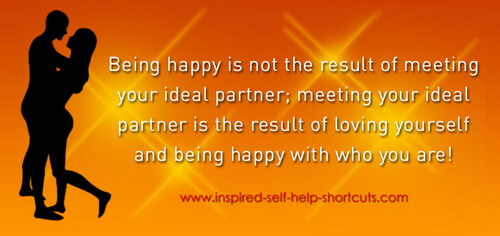 This self help marriage insight suggests that being happy is the result of loving yourself!
