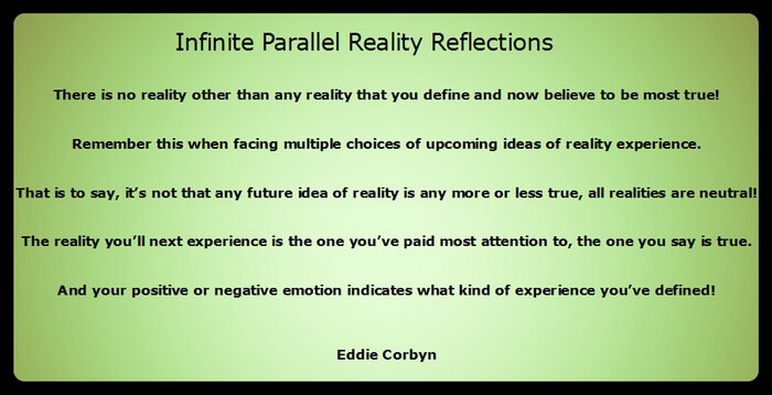 This inspired message reminds you to think about and clarify what kind of reality you prefer.