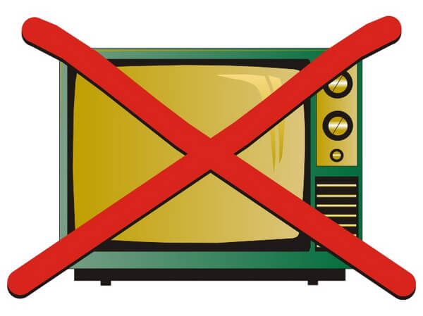 This self help tip advises to refrain from watching TV!